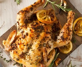 Lemon and Herb CrockPot Roasted Chicken Recipe