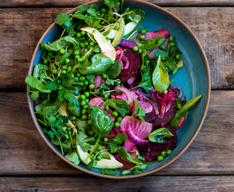 Beet, Avo and Pea Salad