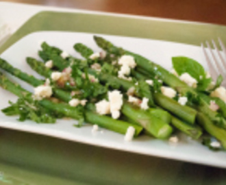 Roasted Asparagus Salad with Fresh Basil and a Ball Canning Giveaway