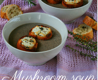 cupcakes-and-couscous wrote a new post, Mushroom Soup with Chevin & Thyme Toasts, on the site Cupcakes & Couscous