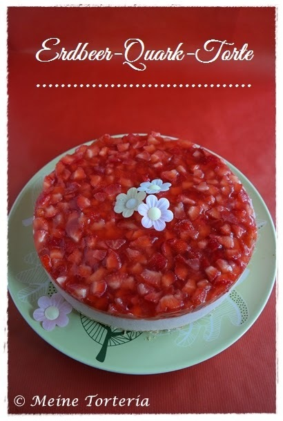 Erdbeer-Quark Torte / Strawberry Curd Cake