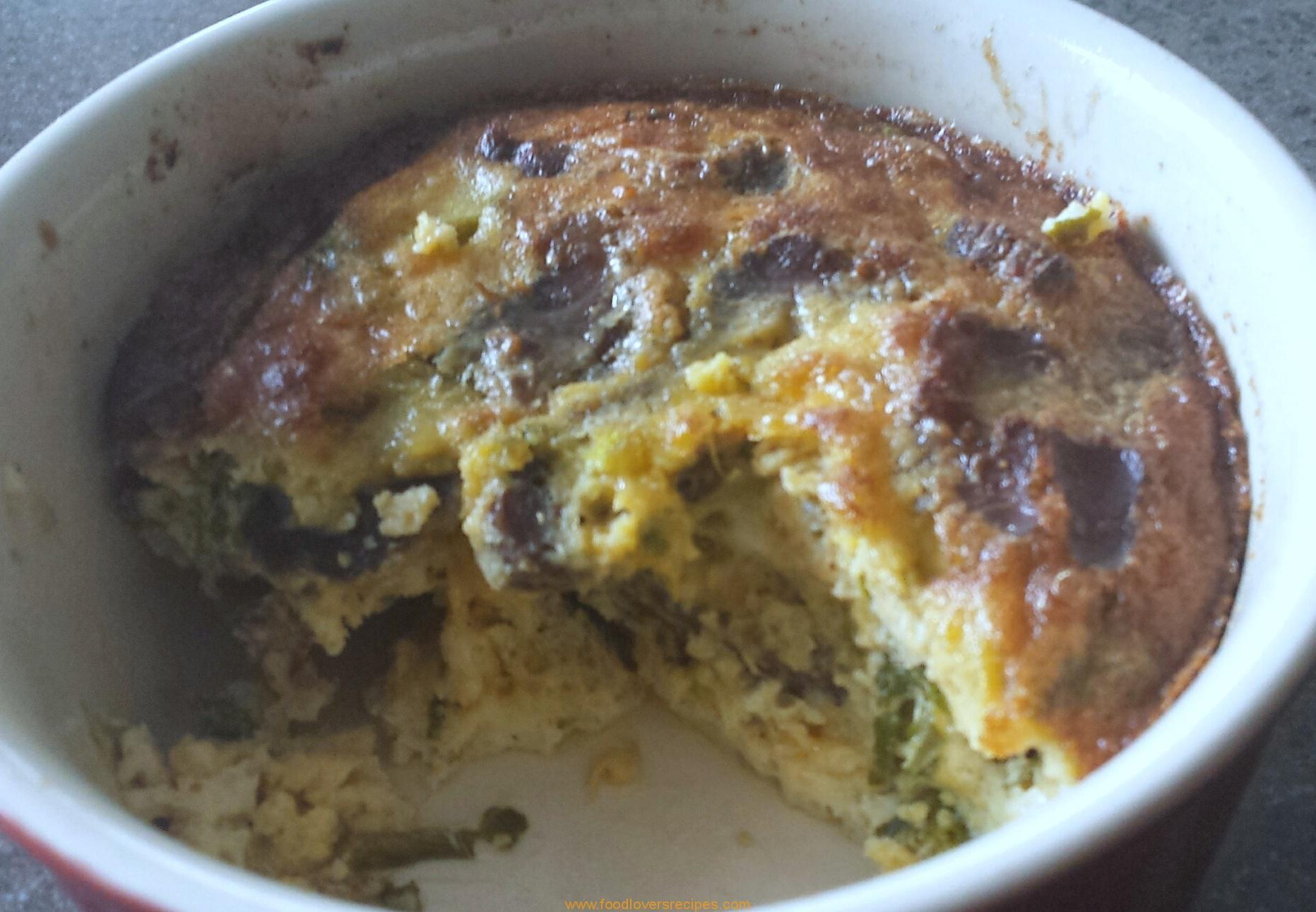 KALE, BILTONG AND EGG BAKE