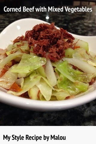 Corned Beef with Mixed Vegetables (Ginisang Corned Beef with Repolyo and Sayote)