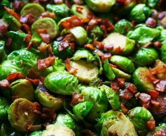 Caramelized Honey Balsamic Brussels Sprouts with Pancetta