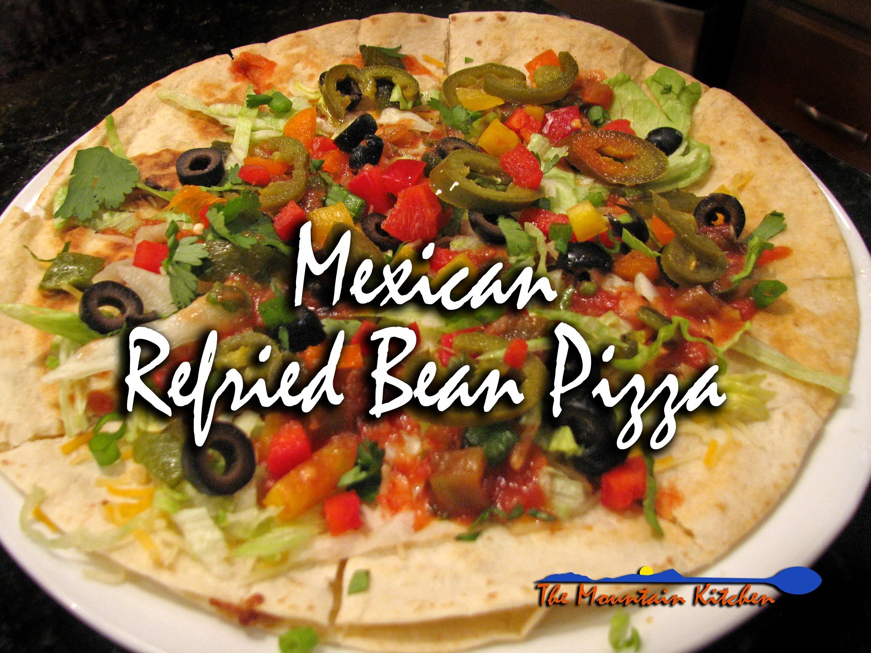 Meatless Monday ~ Mexican Refried Bean Pizza