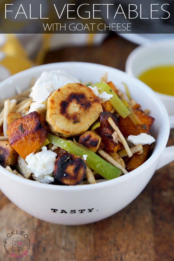 Fall Vegetables with Goat Cheese