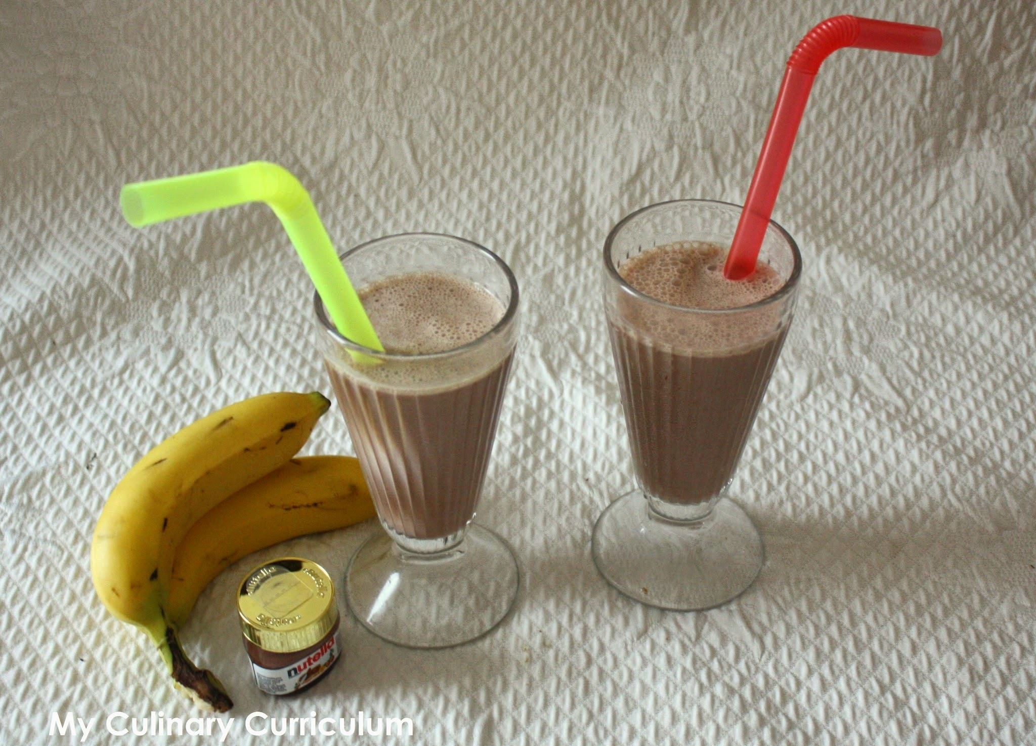 Milkshake banane Nutella (Nutella and banana milkshake)