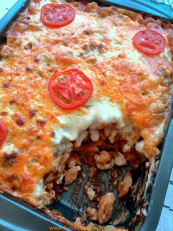 STEAK MINCE PASTA BAKE