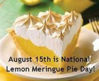 "Pucker Up, It's ""Lemon Meringue Pie"" & ""Lemon Meringue Pie-Cocktail"" Time!"