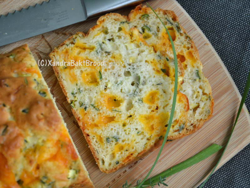 Hartig courgette brood met cheddar