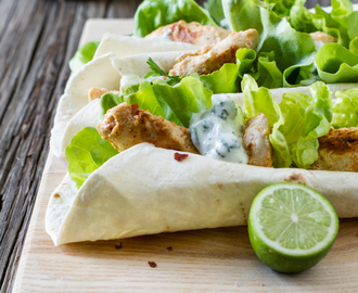 Cajun Chicken Wraps