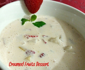 Creamed Fruits Dessert