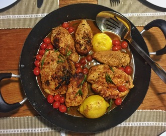 One Pan Chicken with Lemon & Paprika