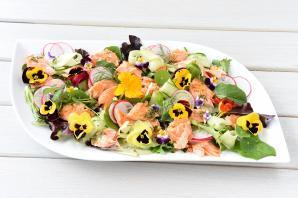 Salmon Flower Salad