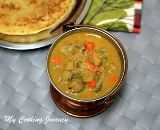 Chettinad Vegetable Kurma – Chettinad Style White Vegetable Kurma
