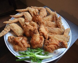 炸虾酱鸡翼 DEEP FRIED SHRIMP PASTE CHICKEN WINGS