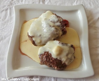 Tournedos de rumsteck au Maroilles (Tournedos of rump Maroilles)