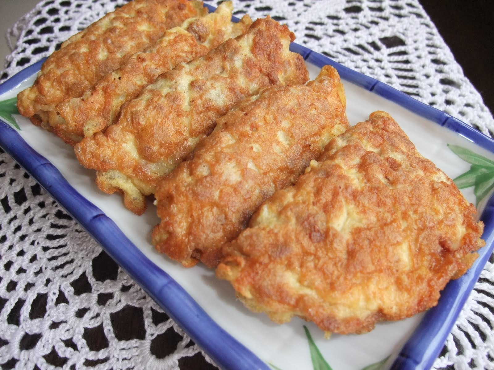 Pan Fried Minced Pork  Omelette