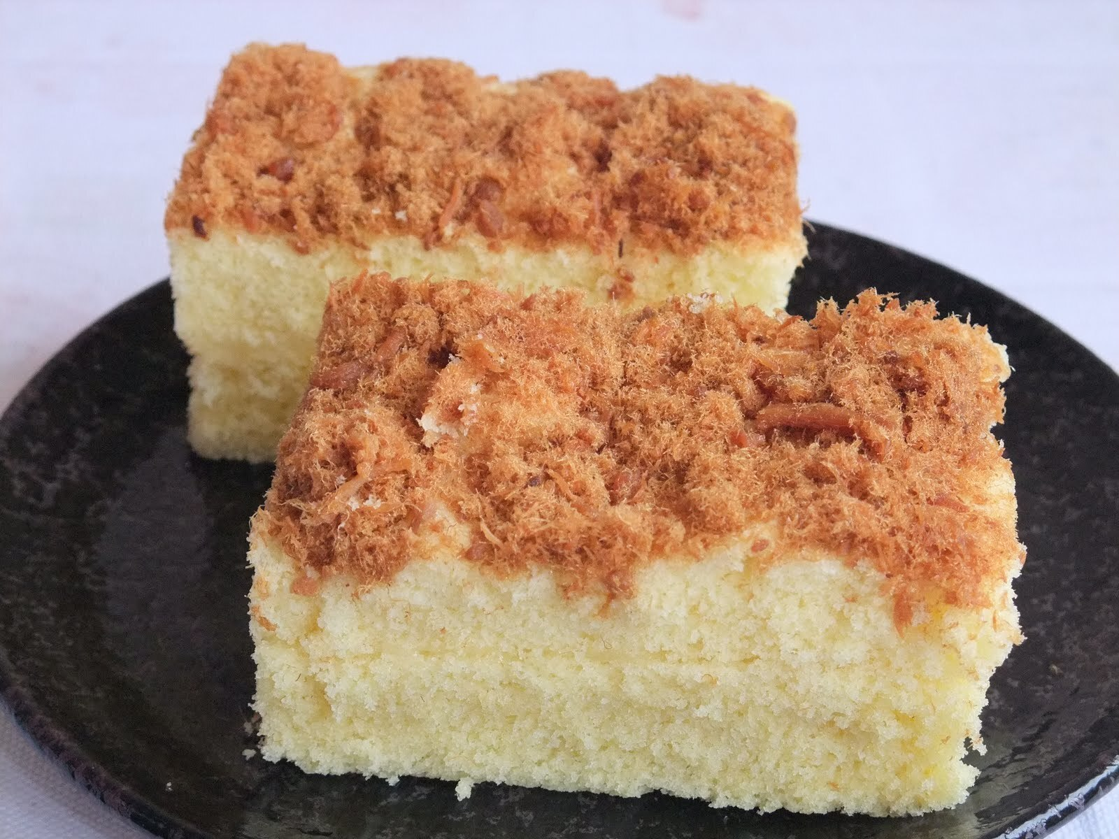 Steamed Meat Floss Cake