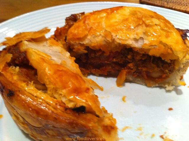 BEEF CHICK PEA AND TOMATO PIE