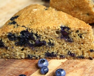 Blueberry Buttermilk Cornbread with Molasses