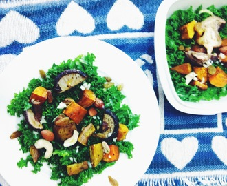 Recipe: Massaged Kale + Roasted Vegetables Salad