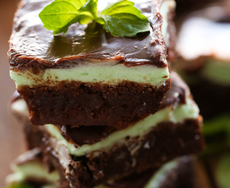 Grasshopper Mint Brownies