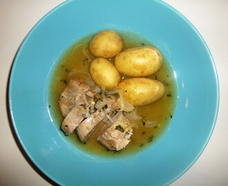 Thyme Roasted Pork Fillet with a Garam Masala, Shallot and Cider Sauce Recipe