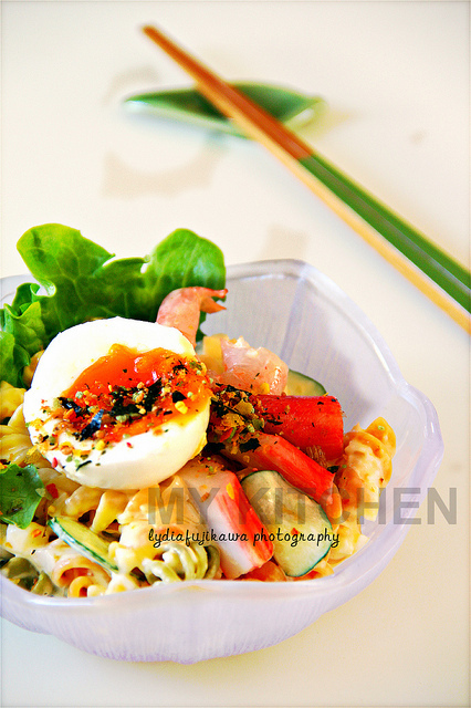 Pasta Salad with Seafood and Egg [Y3K Recipes Issue No 66]