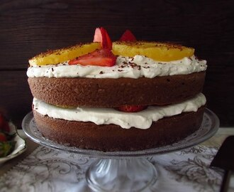 Chocolate cake with fruit and chantilly | Food From Portugal
