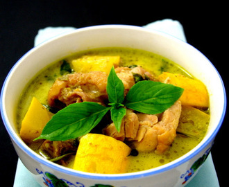 Thai Green Curry Chicken [Not so green but yummylicious]
