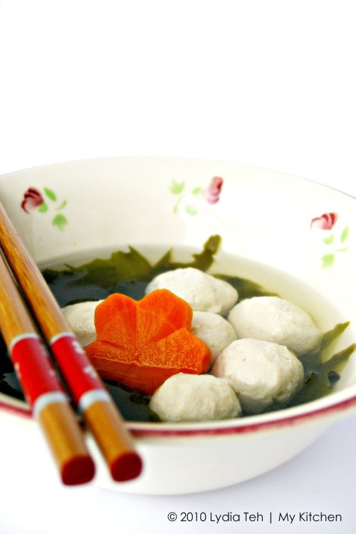 Simple Fish Ball Soup [Home-made Fish Balls]