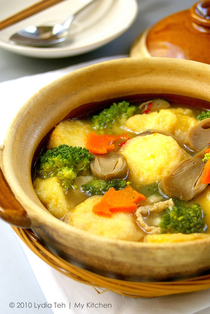 Claypot Tofu [A Healthy Pot]