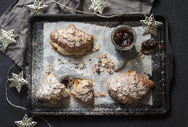 Cheat's Christmas Almond Croissants