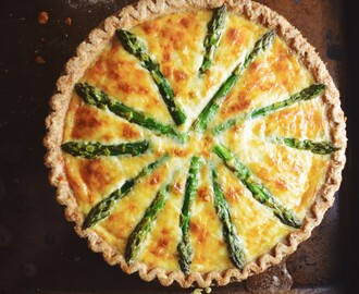 Shrimp, Asparagus, and Gruyere Quiche