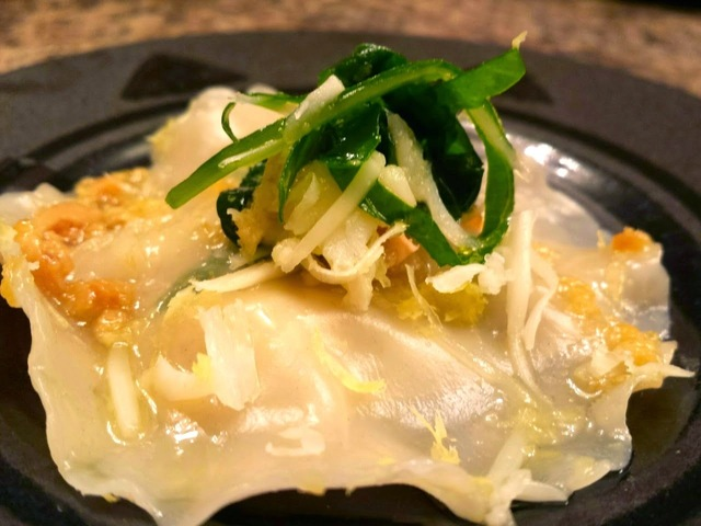 Lobster Ravioli with Brown Butter and Garlic