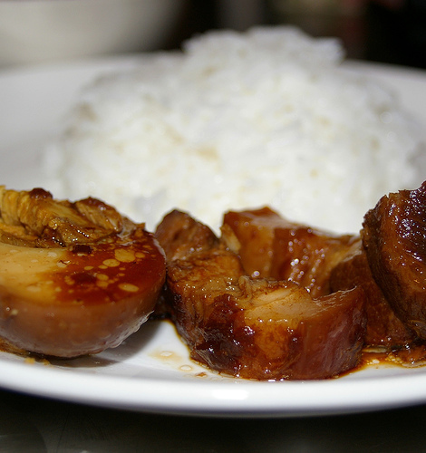 Braised Pork Belly & Eggs (滷肉加蛋)