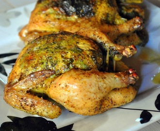 Thanksgiving Series: Cornish Hens with Butter, Parsley & Lemon Black Pepper Seasoning (Cordonas com Manteiga, Salsinha & Tempero de Limão Pimenta Preta)