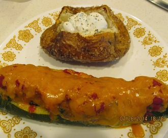 Recipe: Stuffed Zucchini & Restaurant Baked Potatoes*