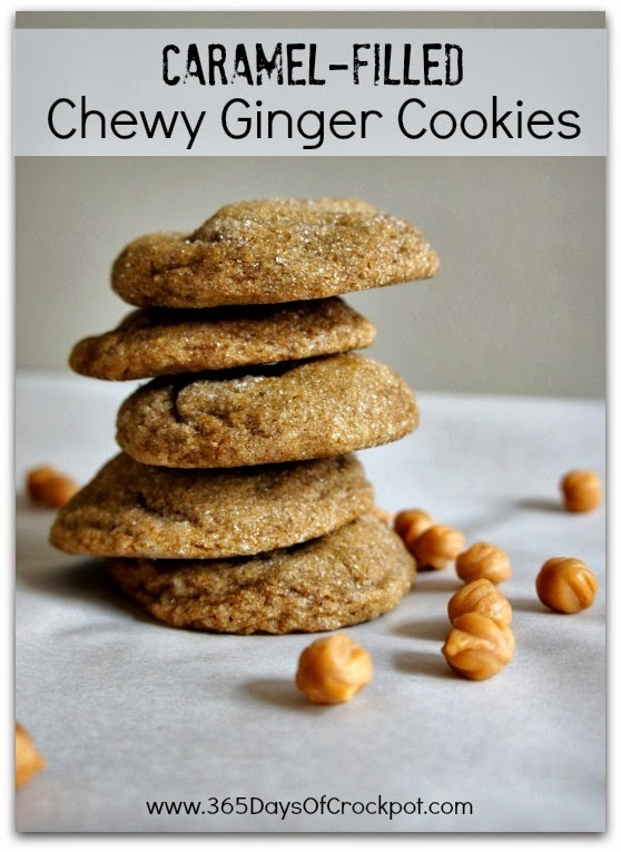 Recipe for Caramel-Filled Chewy Ginger Cookies (plus a cookie exchange)
