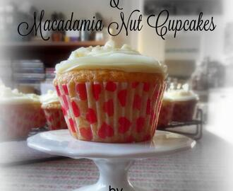 White Chocolate and Macadamia Nut Cupcakes