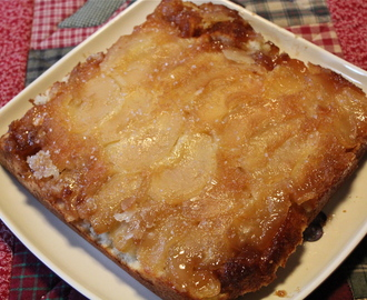 Apple Upside Down Cake with Salted Caramel