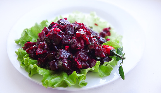 Свекла с ткемали (Beetroot Salad)