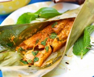 Grilled Spicy Banana Leaf Salmon