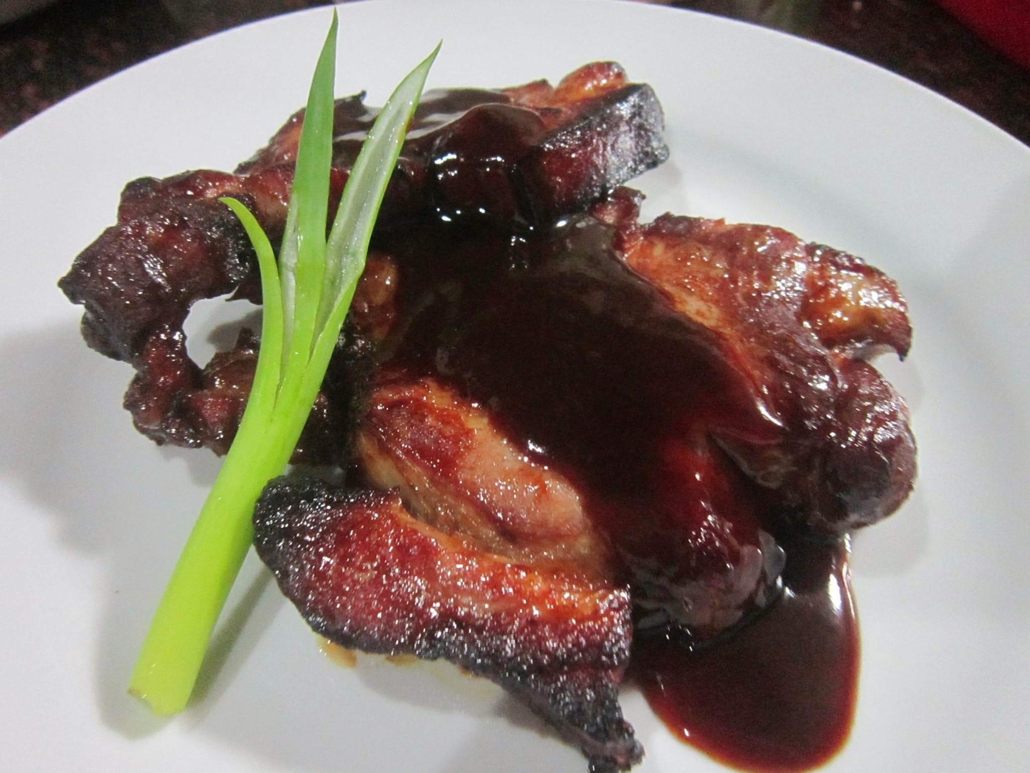 PORK STEAK in BARBEQUE SAUCE