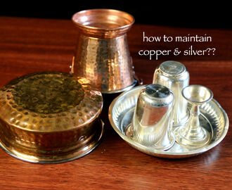 how to maintain and clean silver, copper and bronze vessels