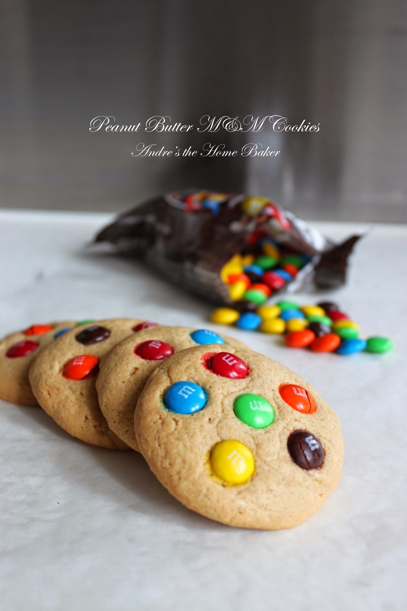 ♥ Peanut Butter M&M Cookies ♥