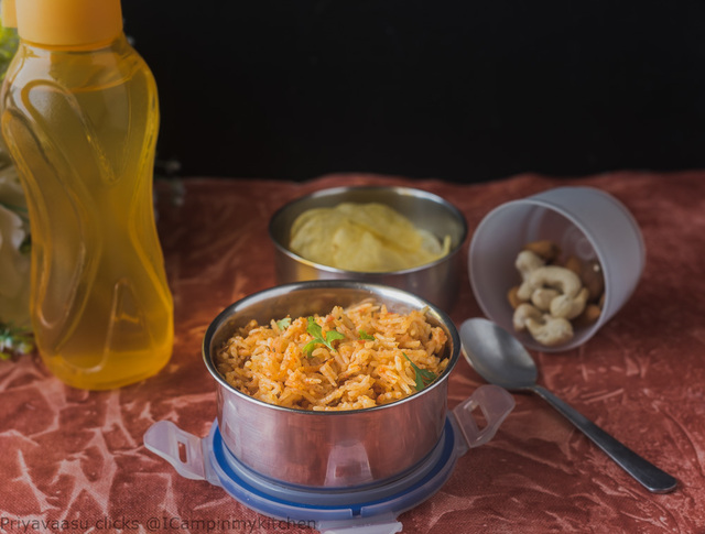 Tomato Pulao/Tomato Pilaf - Kids Lunchbox Recipe And Kids Delight Event Announcement