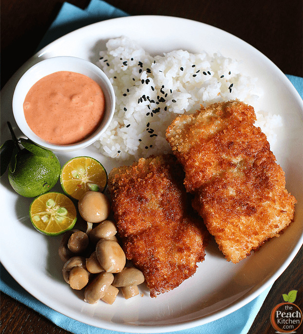 Breaded Fish Fillet with Sriracha Mayo + A Princess Easy Fryer Giveaway!