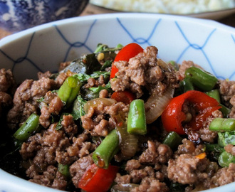 The Muddled Pantry wrote a new post, Thai Beef Mince with Basil & Chilli (Phat Kaphrao), on the site The Muddled Pantry